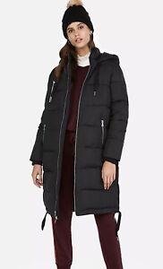 18 198 Long XL 16 Black Coat Puffer Jacket Retail Express Size New 8wPqH