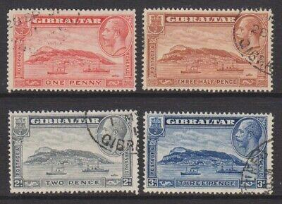 Gibraltar Set F/u 1931/3 Rock Of Gibraltar Sg 110a/113a perf 13 1/2 X 14