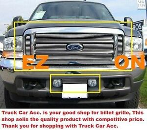 For-FORD-F250-F350-F450-Super-Duty-1999-2004-7PC-Polished-Grille-Combo-REPLACE