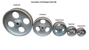 Gussrad Eisenrad Schwerlastrad Laufrad Metallrad Rad Industrierad Gleitlager
