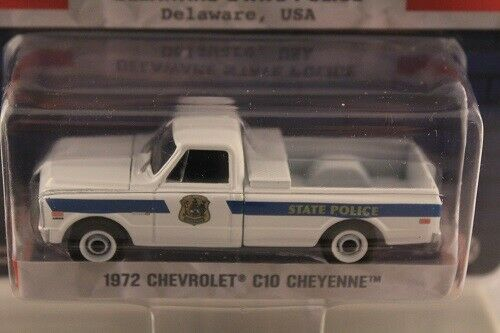 Chevrolet C10 Cheyenne DELAWARE STATE POLICE Hot Pursuit Greenlight 1:64 OVP NEU