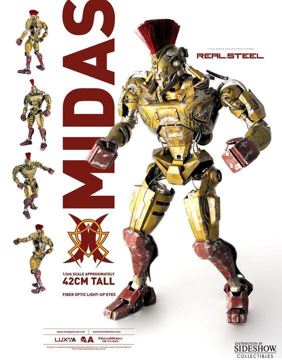 REAL STEEL MIDAS Sixth Scale Acción Figura 1 6 Hugh Jackman Movie ThreeA RARE