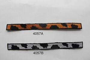 4057-Lot-2Pcs-Trim-Fringe-Leopard-Print-Embroidery-Applique-Patch