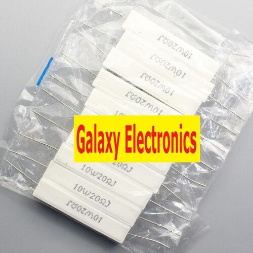 10pcs Brand New 5/% 10w 20 ohm 20RJ Cement Resistor Flame Resistance