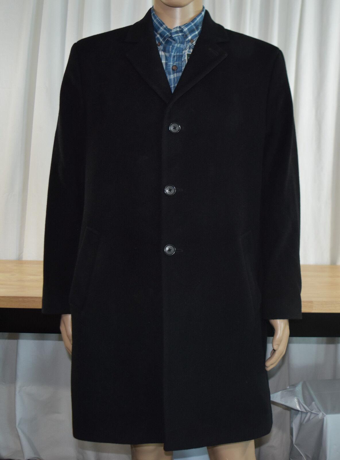 Hathaway Platinum Wool & Cashmere Blend Italian Woven Dress Coat, 42 Short, Blk