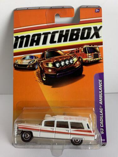 MATCHBOX 63' CADILLAC AMBULANCE WOW MODELL NEU//OVP GENE MERCY HOSPITAL