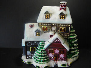 Christopher Radko Christmas House Candy Jar Cookie Jar 2006 Village | eBay