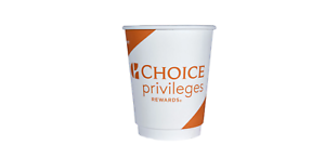 Choice Privileges Rewards 9 oz Double Wall Cup Unwrapped Quantity 500 CP-DBW-CHP