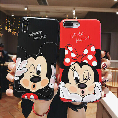 Cute Cartoon Mickey Minnie Mouse Soft Case Cover For Iphone 11 Pro Max Xs 6 7 8 Ebay