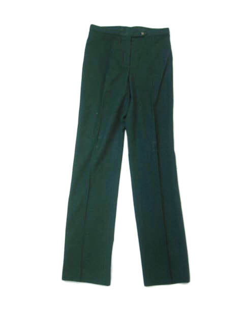 NWT Kiton Woman Hunter Green Cashm Pants e42 US6