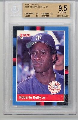 1988 Donruss Roberto Kelly (Rookie Card) SP (#635) BGS9.5 BGS