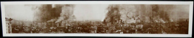 "1906 SAN FRANCISCO EARTHQUAKE ""THE BURNING CITY"" NEW 10x54 LARGE PANORAMA POSTER"