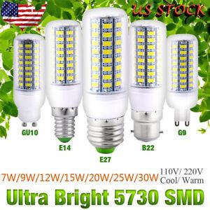 Super-Brigh-E27-B22-GU10-E14-G9-SMD5730-LED-Corn-Bulb-Lamp-Cool-Warm-White