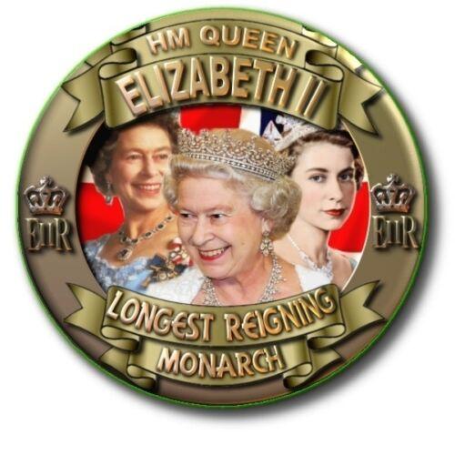 HM QUEEN ELIZABETH II LONGEST REIGNING MONARCH SOUVENIR FRIDGE MAGNETS SUPER!