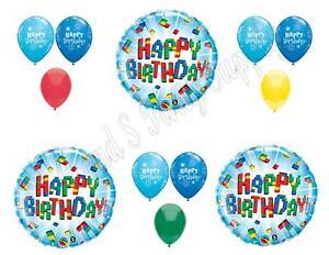 Birthday Balloons Decoration Supplies Party Building Blocks 12 pcs.