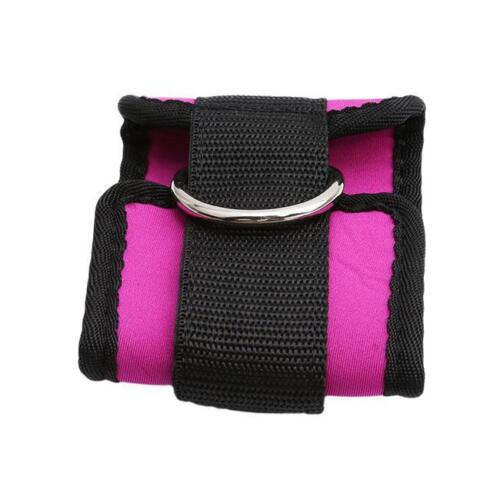 1pc Double D-ring Ankle Cuff Straps Adjustable Weight Wrist Belt WA