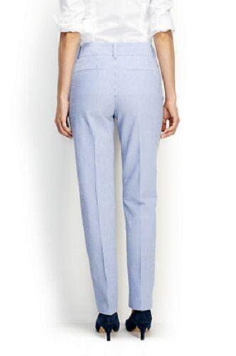 LANDS/' END 16P Sail Blue Stripe Wear To Work Slim Leg Pants NWT $89