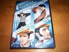 4 FILM FAVORITES ELVIS PRESLEY CLASSICS Jailhouse Rock Charro Stay Away Joe DVD