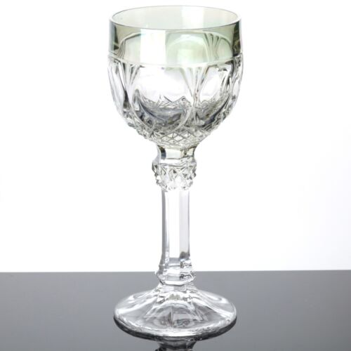 1 Weinglas Römer Hofbauer Glas grün 19 cm Bleikristall Vintage Trinkglas