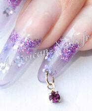 Nail Art Piercing Jewelery SWAROVSKI Amethyst Rhinestone 3 mm Gold plated