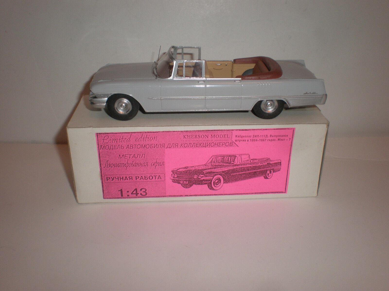 1  43 Ryska Cabriolet Limousine ZIL -111G grå 1962 Handgjorda Kherson -modelllllerler