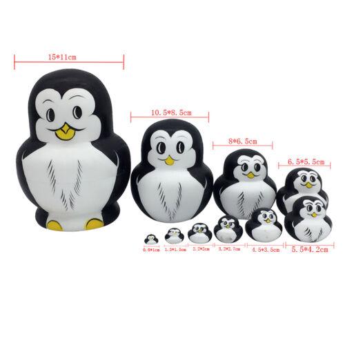 10x Pinguin Matroschka Babuschka Matrjoschka Matruschka Matroyshka