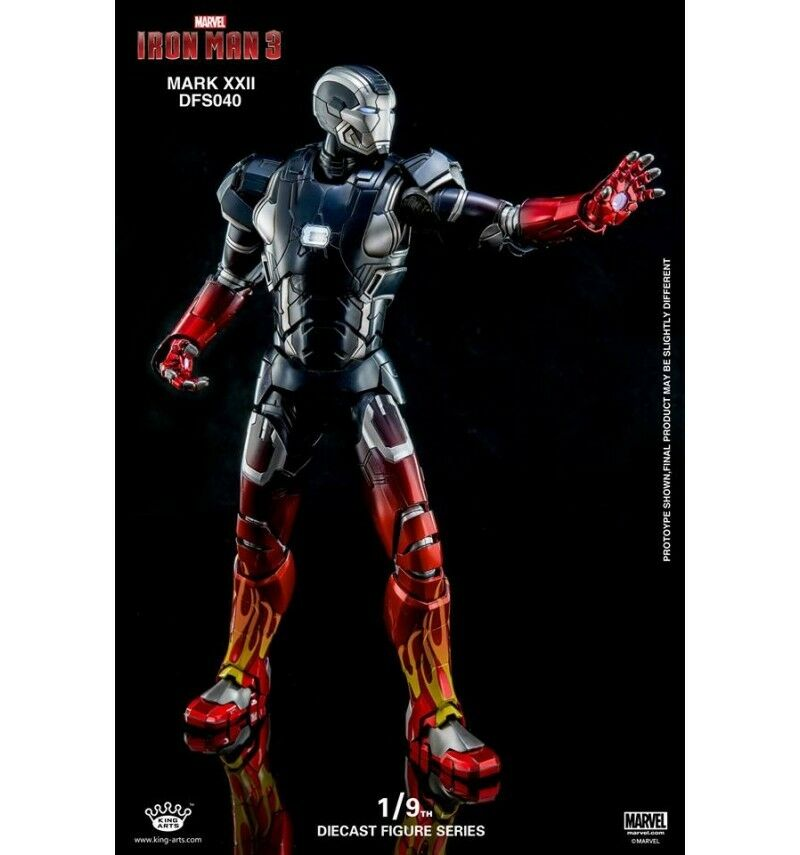 King Arts Iron Man Mark XXII großartig Rod 1/9 Figürchen artikuliert