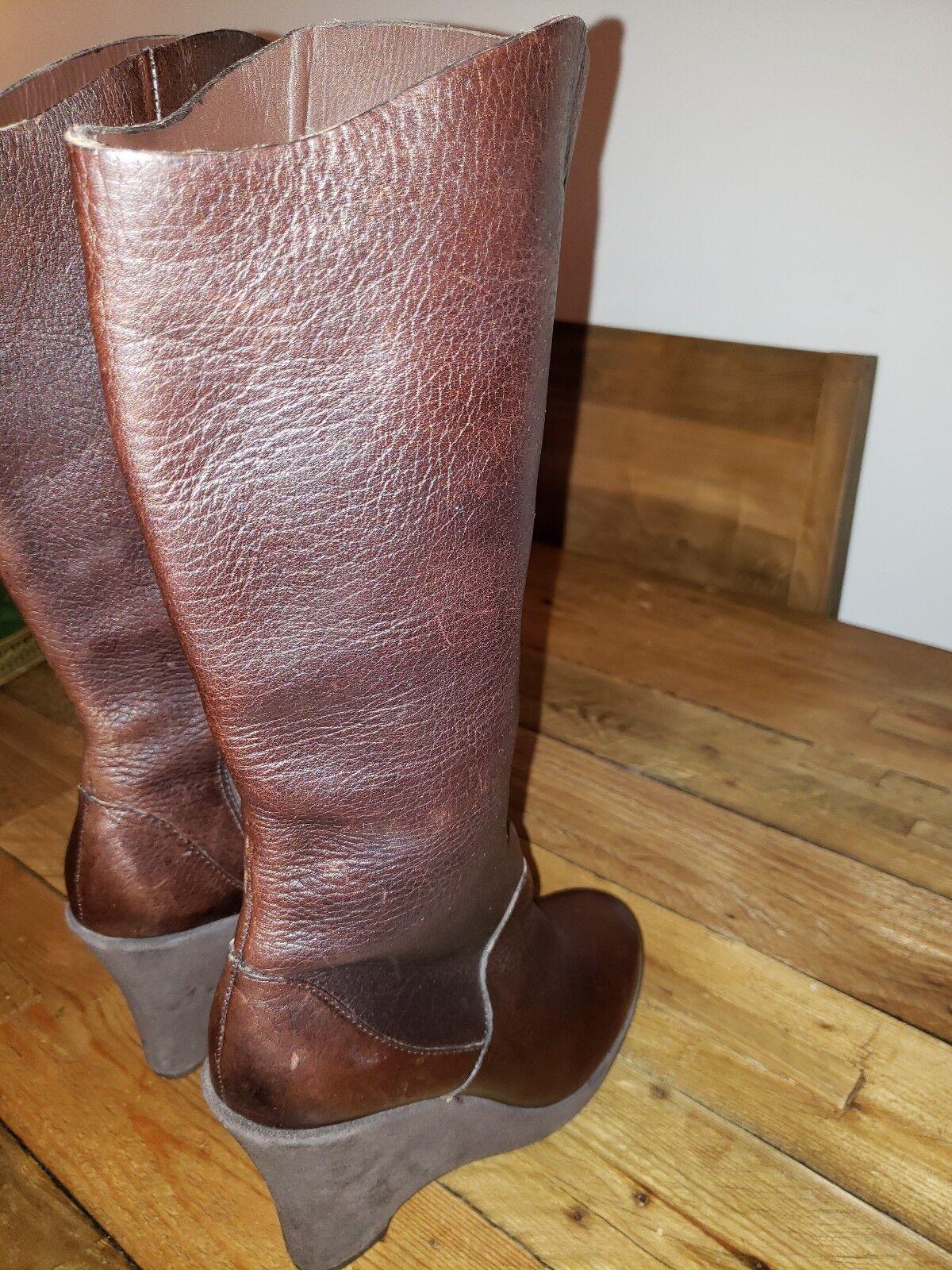 punto de venta en línea Kork-Ease the Original Cuero botas hasta la rodilla cuña de de de chocolate para mujer 7.5  Las ventas en línea ahorran un 70%.