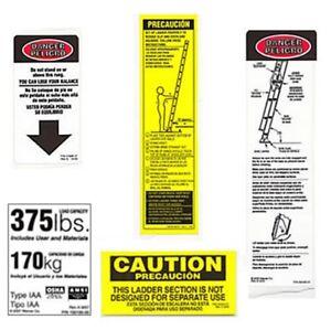 6-pack-Werner-LFE100-375-Fiberglass-Extension-Ladder-Safety-Labels