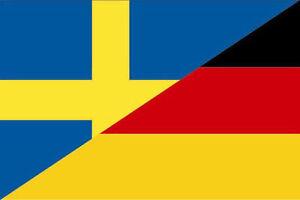Das Bild Wird Geladen Aufkleber Schweden Deutschland Flagge Fahne