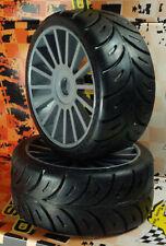 SP 1/8 MED Sport Tires Mounted On Grey Multi Spoke rims (1 Pair) GT/ GT2 sp00015