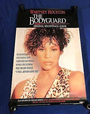 vintage 1992 Whitney Houston Bodyguard Soundtrack PROMO POSTER Arista 24x36in