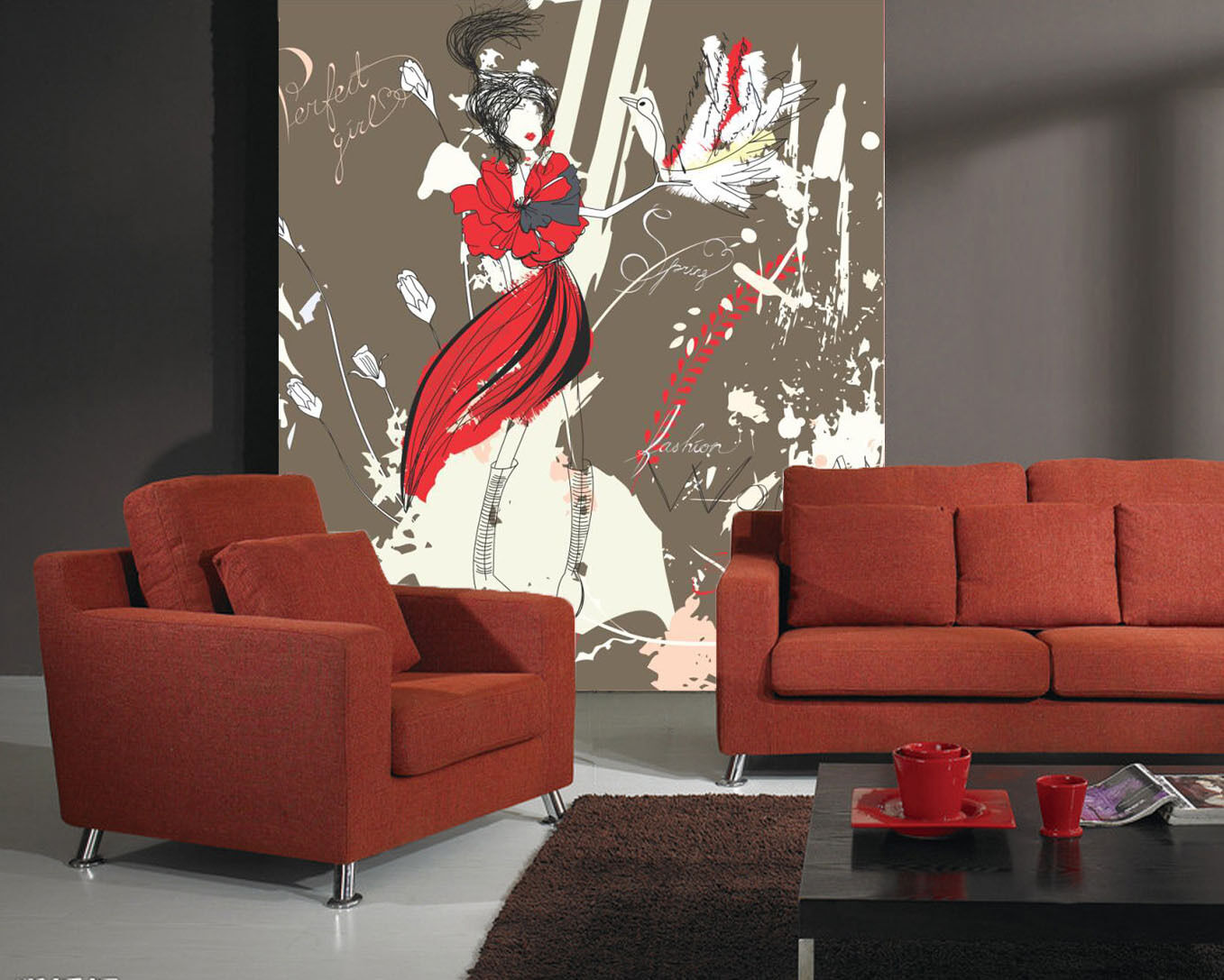 3D Graffiti Ethnic Girl 855 Wall Paper Wall Print Decal Wall Deco Indoor Wall