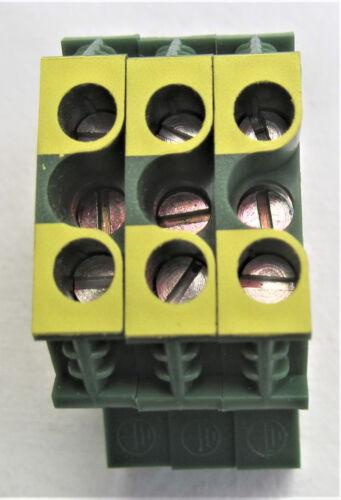 Jefe de protección borna Wieland 9700a//8 sl2 s35 para TS 35mm 3 piezas 10mm2