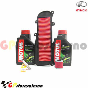 REPLACEMENT-KIT-5000-10W40-OIL-FILTER-AIR-SPARK-PLUG-KYMCO-200-PEOPLE-GTI-2014