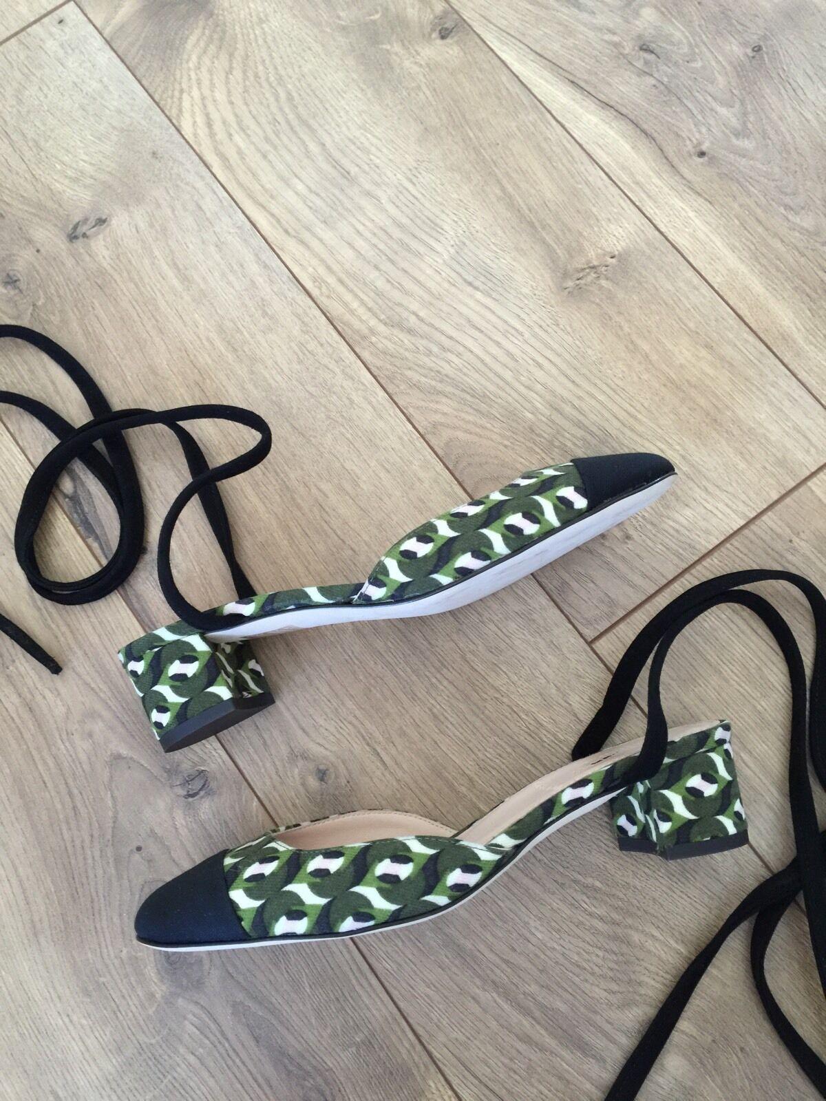 JCrew JCrew JCrew Collection ankle-wrap heels in Ratti geometric tile print F8013  268 6.5 bac050