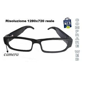 Occhiali Vista Spia Hd 1280x720 Spy Telecamera Occultata Spia Microcamera Cw31 iL33de