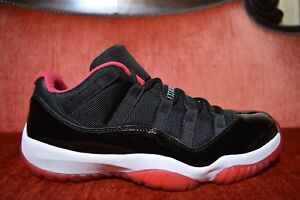 7ffdfeb9e6de2f NEW Nike Air Jordan 11 XI Retro Low BRED Size 10 2015 Black Red B ...