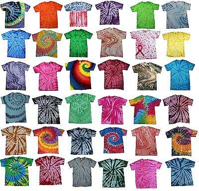 Multi-Color Tie Dye T-Shirts Adult SM - XXXXXL 100% Cotton Colortone-Gildan