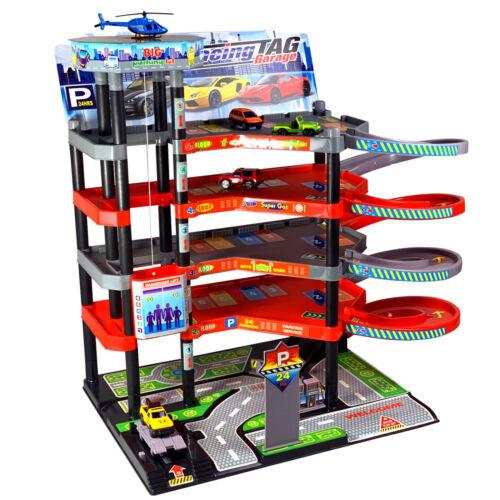 Garage Parcheggio 5 Piani Bambini per Auto Coperto Incl.spielzeugautos Set