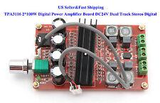 US TDA3116 2*100W High-Power Digital Amplifier Board TPA3116 Dual Track 12-24V