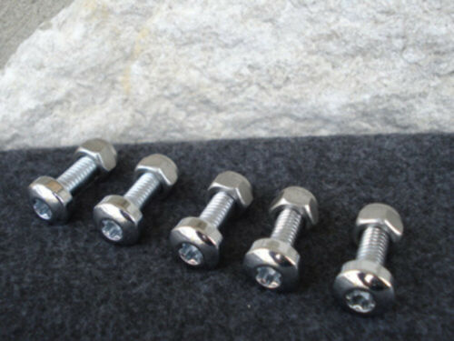 CHROME TORX FRONT BOLT SET WITH LOCK NUTS FOR HARLEY BRAKE ROTORS