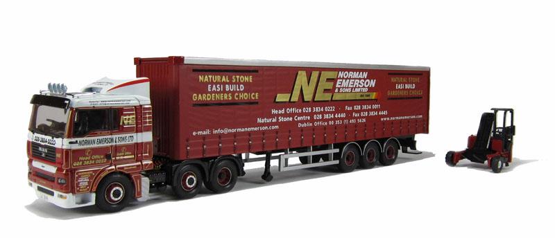 Corgi Modern Truck Transport Lourd CC13404 Homme Curtainside & Moffet Emerson 1/50 | De Biens De Toutes Sortes Sont Disponibles  | Outlet  | En Gros  | Des Styles Différents