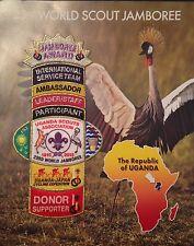 23rd world scout jamboree UGANDA CONTINGENT SET ON PRESENTATION CARD  2011