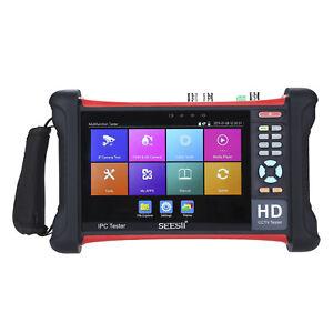 """7""""4K IPC Cam WIFI FHD HDMI CCTV Tester Monitor TVI CVI AHD CVBS Onvif Test Video"""