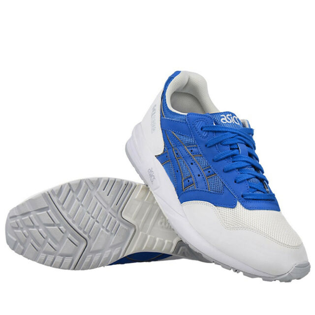 83a681dba9b459 Asics Mens Trainers Gel Lyte Saga Blue White Athletic Running Sports Shoes