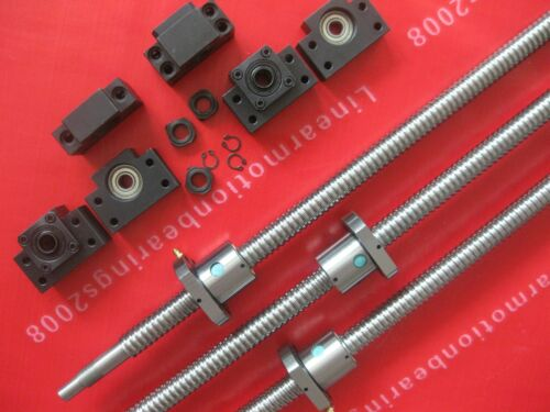 3sets BK//BF bearing mounts end supports 3 anti backlas ballscrews