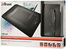 "TRUST EBRUSH 8""x5"" WIDESCREEN GRAPHICS TABLET, TILT & PRESSURE SENSITIVE 4000LPI"