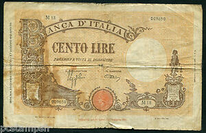 ITALIE - BILLET de 100 LIRE -  9-12-1942