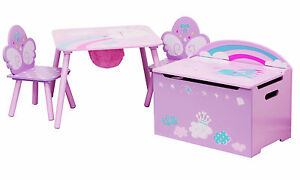 Set di mobili per bambini unicorn tavolo e sedie con